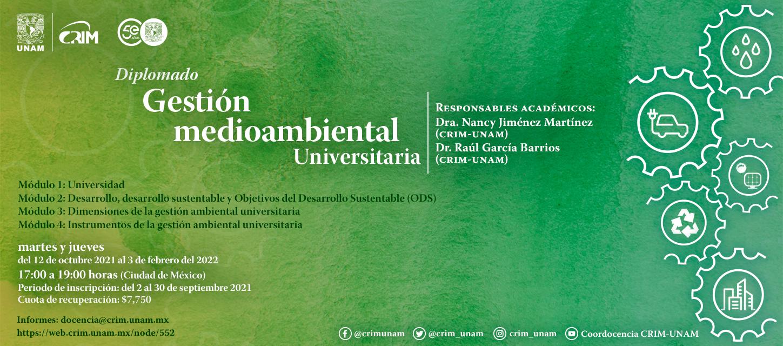 """Diplomado """"Gestión medioambiental universitaria"""""""